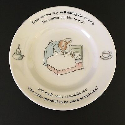 Wedgwood England The World of Peter Rabbit 1993 Plate -His Mother Put Him to Bed