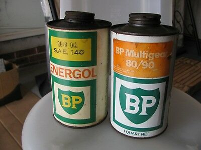 B P 1 Quart  2 oil tins nice and straight collectable items