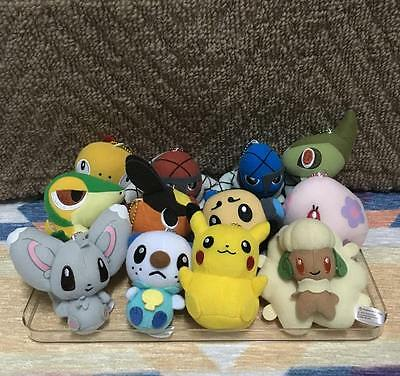 Set of 12 Pokemon Center Pokedoll Mascot Keychain Stuffed Doll Plush Toy Japan