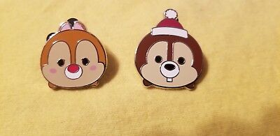 Disney Parks  Trading pin  Chip & Dale Mystery  pack  Christmas