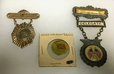 Civil War Veterans Kentucky Medals Grouping Antique Old Vintage 3 Piece