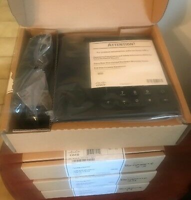 4 x BRAND NEW Cisco CP-6945-C-K9 Unified VoIP IP Phone Standard