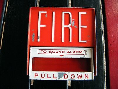 """Vintage Fire Alarm """"Pull Down' Handle Firefighting."""