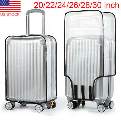 "20-30"" Waterproof Clear Transparent Travel Luggage Suitcase Cover Case Protector"