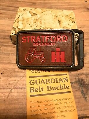 Vintage Nos Stratford Iowa International Harvester Ih Belt Buckle Farm Tractor