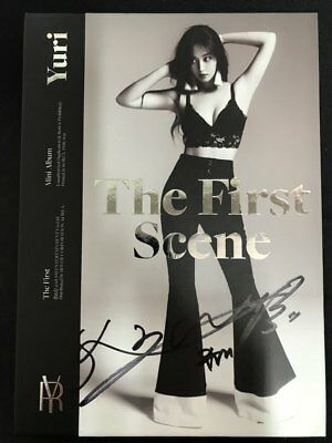 SNSD - YURI [THE FIRST SCENE] Autograph(Signed) ALL MEMBER  PROMO ALBUM KPOP