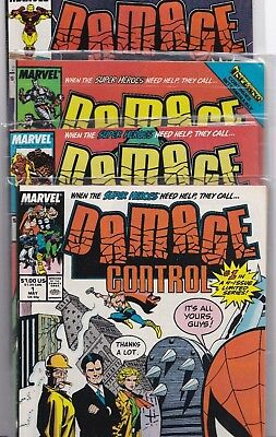 Damage Control Vol.1 #1-4 Nmint+ Marvel Comics Complete Set Lot 1989 New Tv Show