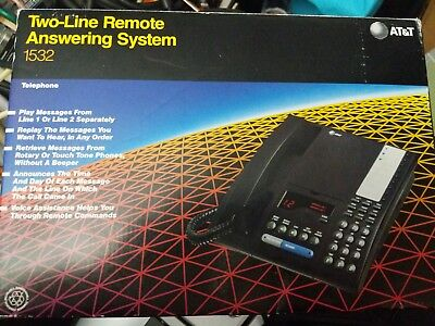 AT&T  Model 1532  2 two Line Remote Answering System BNIB