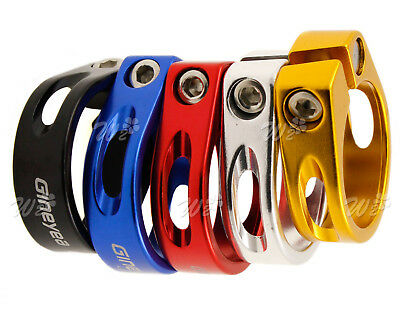 5 Colors Seat Clamp Aluminum Alloy 31.8-34.9mm For Cycle Bike Road Cycling