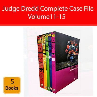 Judge Dredd Complete Case Files Vol.11-15 Collection 5 Books Set series 3 pack