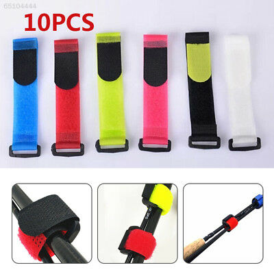 E10A 10X Fishing Rod Tie Strap Bands Self Adhesive Tape Reusable Cable Roll Wrap