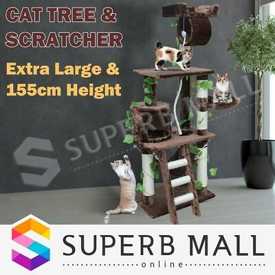 155cm Cat Scratching Post Tree Gym House Furniture Scratcher Pole Toy Condo