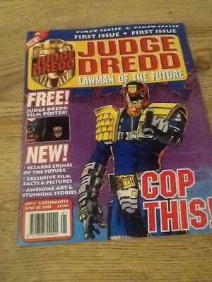JUDGE DREDD LAWMAN of the FUTURE Comic FIRST ISSUE  28/07/1995 With FREE Poster