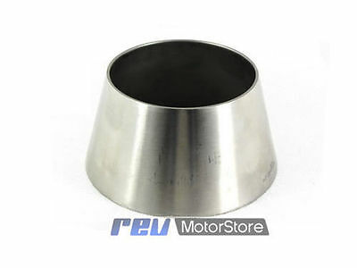 "Reducer Cone Stainless Steel Custom Exhaust Adapter Joiner Connector 3"" to 2"""