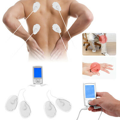 Dual Channel TENS Unit Body Pain Relief Digital Massager Device +10 Pads Physio