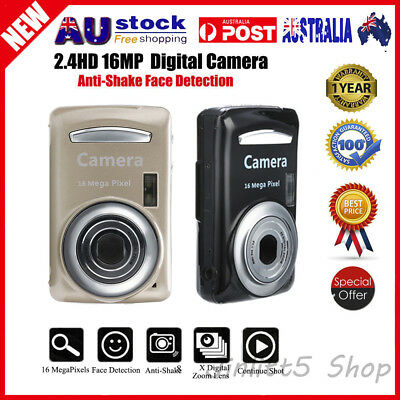 "ISO400 8X 2.4"" Screen Digital Camera 16MP Anti-Shake Face Detection Camcorder"