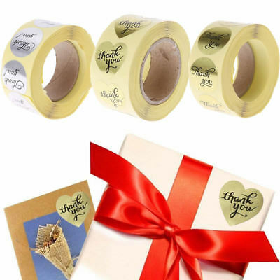 500 Pcs Thank You Adhesive Stickers Labels For Scrapbook Birthday Wedding Decor