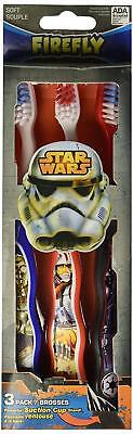 Star Wars' Toothbrushes Pack of Three with Assorted Characters