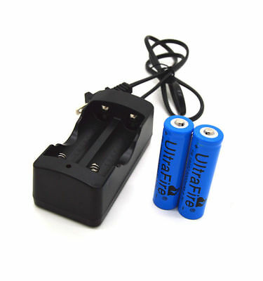 2pcs 18650 Battery 3.7V 5000mAh Li-ion Rechargeable Batteries Bat+ Wired Charger