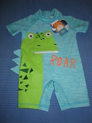 NEXT boys swimsuit Dino Sunsafe Suit UPF 50+ 3-6, 9-12 months BNWT