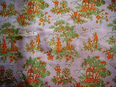 Old Vintage Upholstery Tapestry fabric french provincial pastoral sold by yard.