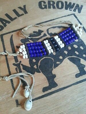 Indianisches Choker Armband Crowbeads Natives Sioux Cheyenne Indianer