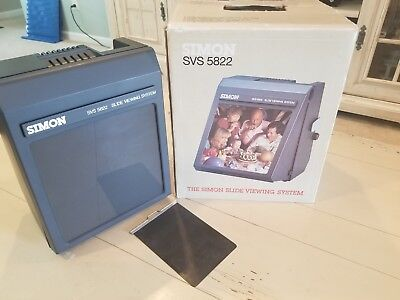 SIMON SVS 5822  35mm SLIDE VIEWING SYSTEM VERY GOOD WORKING CONDITION