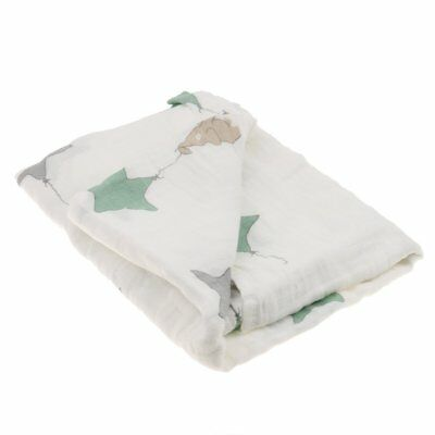 Soft 100% Muslin Cotton Swaddle Baby Blanket Sleeping Blanket 110*110CM - Stars