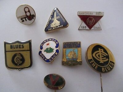 Victorian & Melbourne Badges & Others X 8