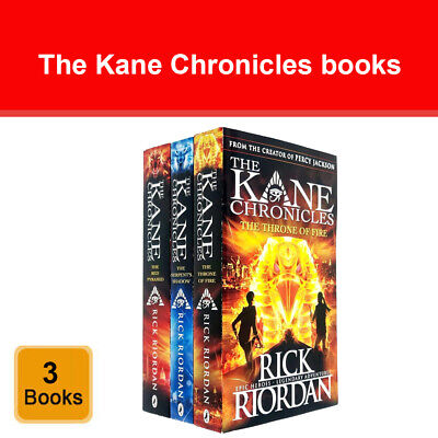 Kane Chronicles series Rick Riordan collection 3 books set Young Adult Pack New