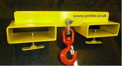 Adjustable Fork Mounted Lifting Hook Attachment 1000kg