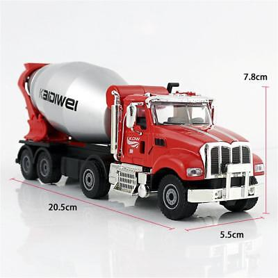 KDW 1:50 Cement Mixer Truck Diecast Concrete Mixer Car Model Toy Gift For Kids