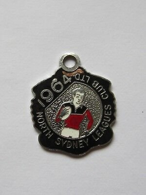 1964 NORTH SYDNEY LEAGUES CLUB LTD ENAMEL BADGE 28mm ACROSS RARE!!!!!