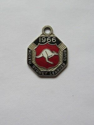 1966 NORTH SYDNEY LEAGUES CLUB  ENAMEL BADGE 25mm ACROSS RARE!!!!!