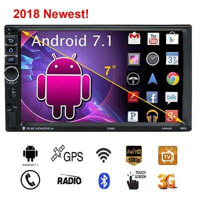 "7"" 2 Din Quad-core Android 7.1 Wifi Car Stereo GPS Navigator Radio MP5 Player"