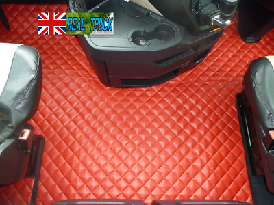 Truck Eco Leather Floor Mats Set  Fit Mercedes Actros Mp 4 Big-Giga Space Cab