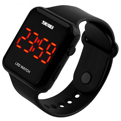 Touch Screen Armbanduhr LED Digital Uhr Quarzuhr Sportuhr Silikon Herren Uhr