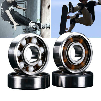 794F 608RS Ceramic Ball Inline Skates Scooter Wheel Spare Bearings Drift Plate N
