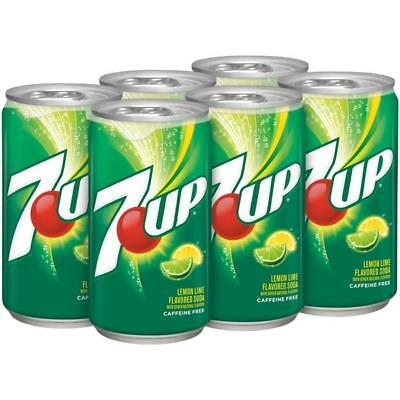 6 cans USA 7-Up Lemon Lime Flavour Soda Drinks 355 ml per cans