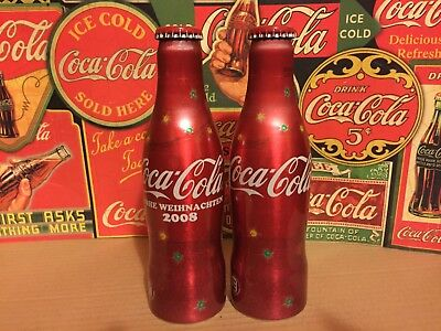 Coca Cola Bottle aluminium Christmas Denmark and Austria 2008