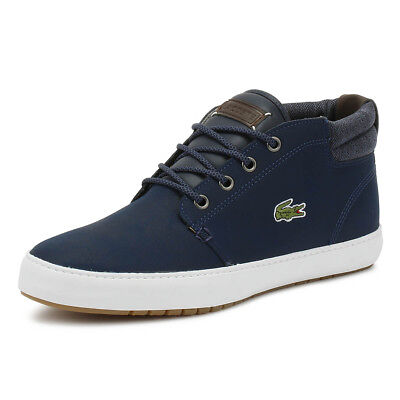 2b7a0681ad1 Lacoste Mens Trainers Ampthill Terra 318 1 Navy Dark Blue Sport Casual Shoes