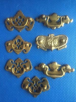 LOT of VINTAGE RECLAIMED SOLID BRASS DRAWER CABINET PULLS #4