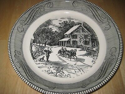 Collectible Pie Plate Vintage Rare Currier & Ives Winter Scene DEAL OF THE DAY!!