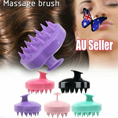 Silicone Shampoo Scalp Shower Body Washing Hair Massage Massager Brush Comb NW