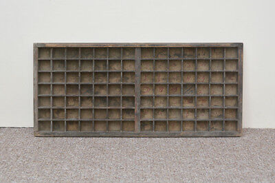 Vintage old wooden printers draw drawer / tray - 83 cm x 37 cm
