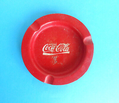 COCA-COLA ... vintage tin ashtray