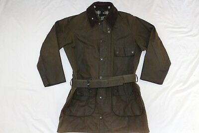 Barbour A98 Solway Zipper Waxed Jacket Coat C40 / 102Cm Immaculate Condition!