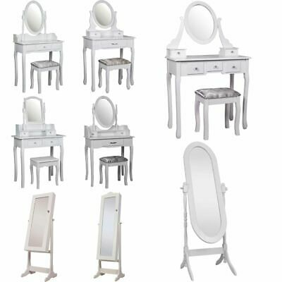 Nishano Dressing Table Jewellery Cabinet Mirror Bedroom Furniture Makeup White