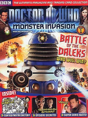 Doctor Who Monster Invasion Magazine Part 1 & A2 Poster