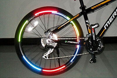 Reflective Sticker Decal TH1040 Bike Wheel Spoke Reflector Warning Mount Clip